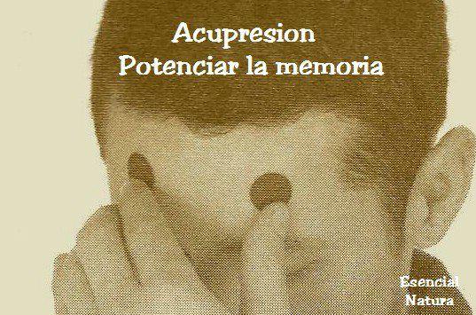 Acupresion: Puntos de Memoria.