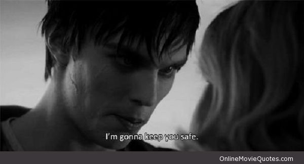 Sweet #quote from a scene in the new 2013 #movie Warm Bodies. Keep You Safe