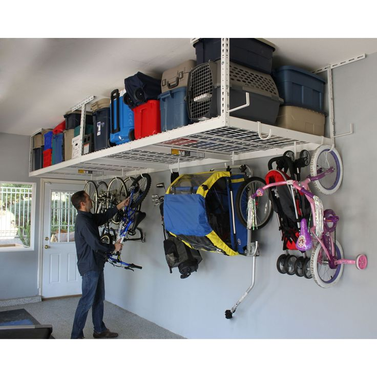 SafeRacks Overhead Garage Storage Rack Heavy Duty 1833 Ceiling Drop White Details Can Be Found By Clicking On The Image