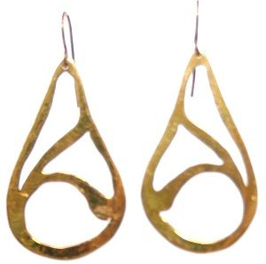 Not For Sale products.  Handmade by Survivors of Human Trafficking - Brass Drop Small Earrings $22