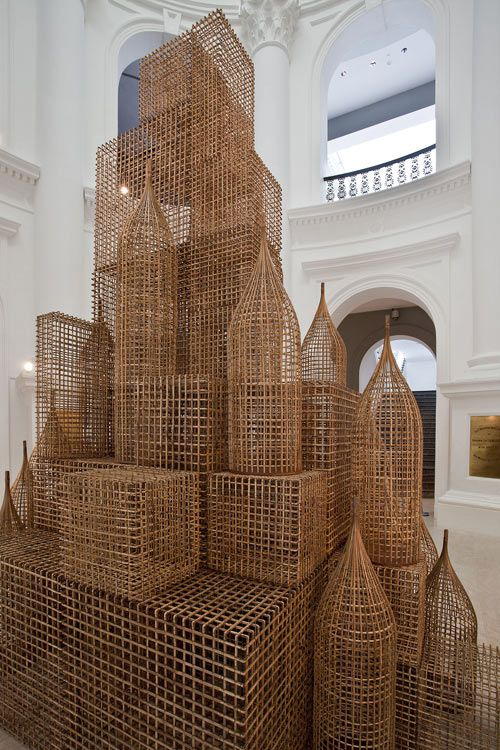 Rattan Sculpture...ok so it's not really wood....