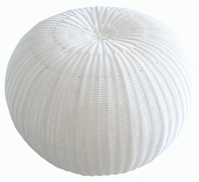 NEW IN: White Gumball Ottoman and Stool - waterproof. From $270RRP AUD.  http://www.philbee.com.au/decor/large-outdoor-indoor-waterproof-hand-woven-rattan-gumball-ottoman-white.html