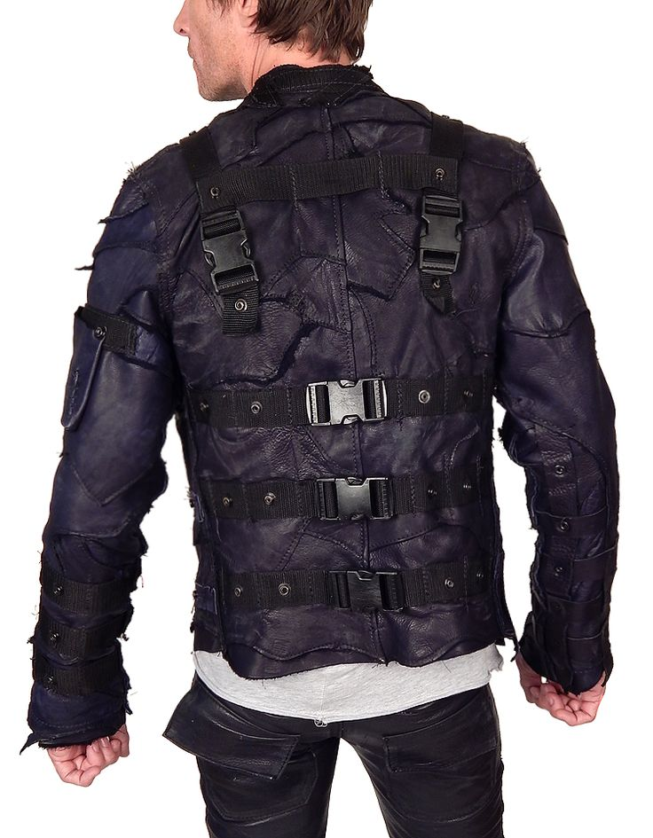 Tactical leather jacket