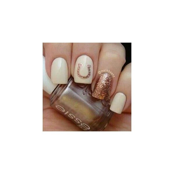 Country girl nails ❤ liked on Polyvore featuring beauty products and nail care