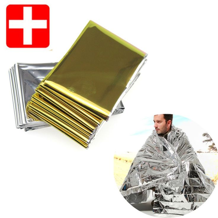 Emergency Camping Blanket Color: Silver, Golden Size: 210*130cm Weight: appx 50g Material: PET + Coating Rescue tools: Yes Waterproof: Yes Emergency Blanket : Yes NOTE: Please allow up to 2-3 weeks de