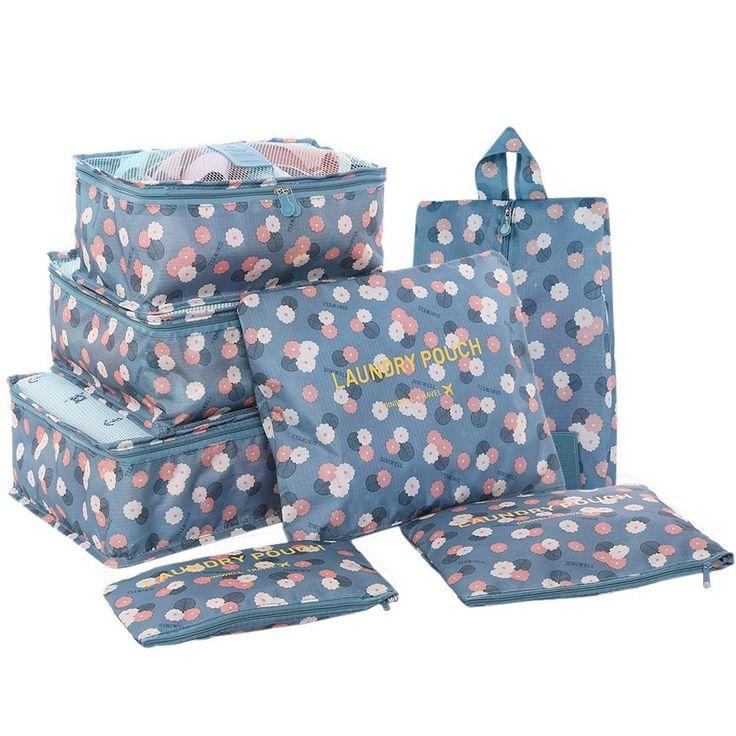 HiDay 7 Set Sistema di Cubo di Viaggio - 3 Cubi di Imballaggio + 3 Sacchetti + 1 Borsa Scarpe Premium - Perfetto di Viaggio Dei Bagagli Organizzatore: Amazon.it: Valigeria