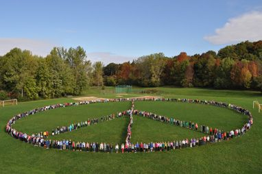 A school near me did this to promote Anti-Bullying. So cool