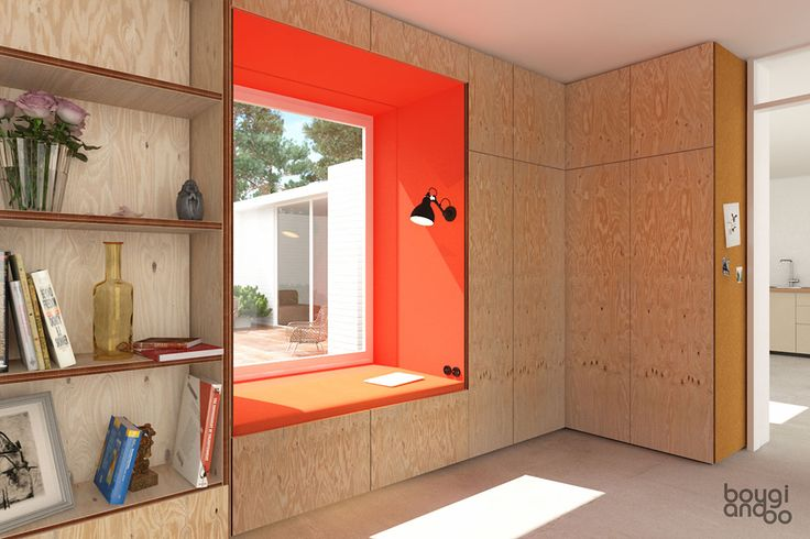 Plywood wardrobe draft for a private bungalow by bougiandbo