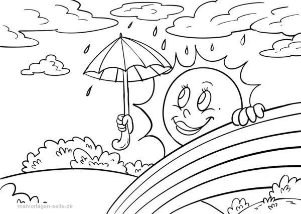 Malvorlage Wetter Malvorlagen Ausmalbilder Vorlagen