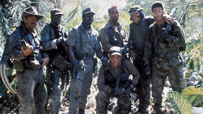 Cast photo behind the scenes on #Predator (1987).