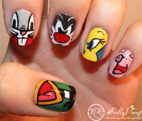 75 best cute nail designs images on pinterest gel nails belle more loony tunes nail art body art prinsesfo Images