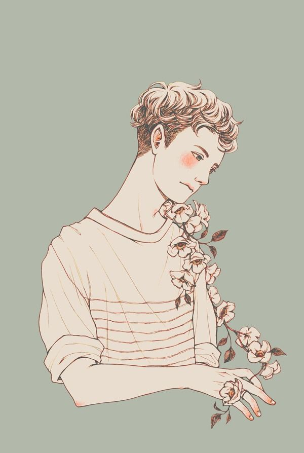 It's just an image of Eloquent Flower Boy Drawing