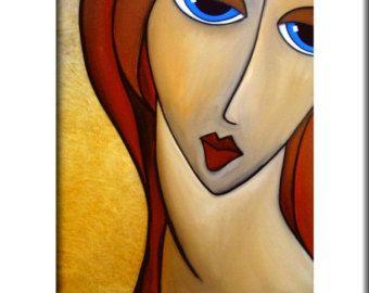 De beste in de originele abstracte kunst, popart, moderne kunst, sculptuur en moderne schilderijen. Grote schilderijen met heldere kleuren en vet lijnen die je glimlach. Artiest: Thomas C. Fedro Titel: En ze Was GROOTTE: 11 x 14 beeld, gematteerd naar 16 x 20 MEDIUM: Originele giclee, ondertekend op voorzijde ONDERSTEUNING: Premium Luster (glans afwerking) archivering papierkwaliteit Past in een standaard maat 16 x 20 frame (frame is niet inbegrepen) DATUM: Nieuw 2012 VERZENDING: Alle...