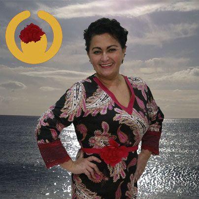 Vestido Almatrichi en Optimisti en La Carihuela, Torremolinos