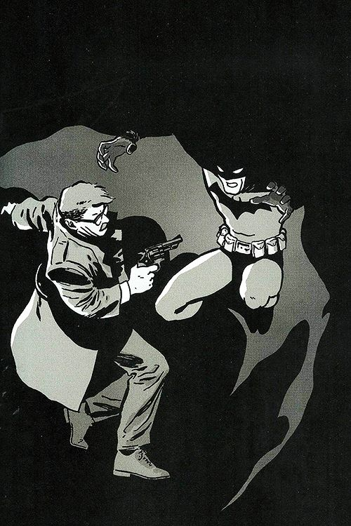 When Gordon encountered Batman for the first time.