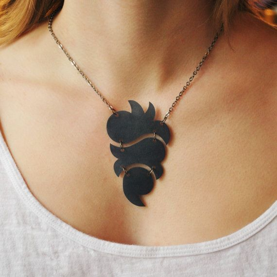 totem necklace - denim