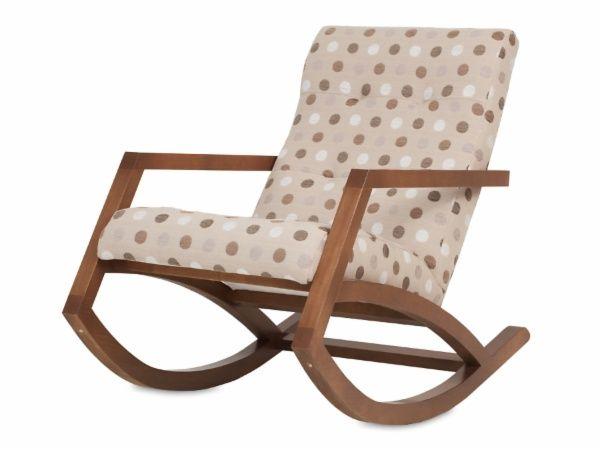 Cadeira de Balanço Mordomia - Chocolate + Tecido Bolas
