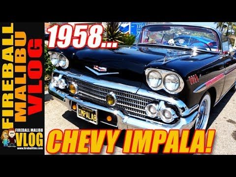 CUSTOM 1958 CHEVY IMPALA! - FIREBALL MALIBU VLOG 634 SUBSCRIBE TO THE VLOG @ http://ift.tt/12aPqeo CUSTOM 1958 CHEVY IMPALA! - FIREBALL MALIBU VLOG 634 - After Kathie makes the World's Most Perfect #Salsa Fireball heads to Dukes to see a pack of Challengers and then spots a flawless Custom 1958 Chevy Impala. FIREBALL'S BOOKS ON AMAZON! http://ift.tt/2faxJCq THE VLOG STORE! New HATS & MUGS that support a Malibu Vlogger! http://ift.tt/2fay7ki The Chevy Impala is a full-size car built by…