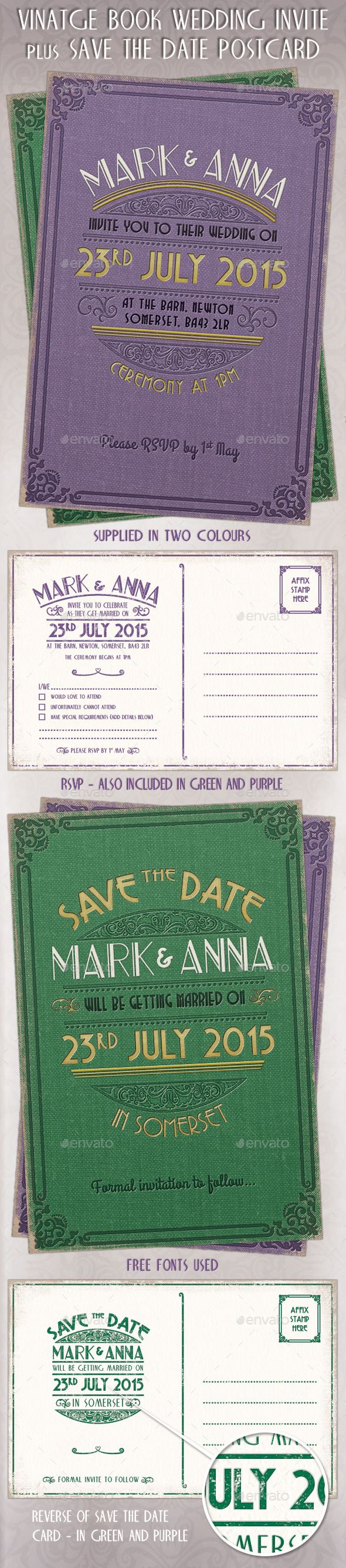free wedding invitation psd%0A Vintage Wedding Invites  RSVP  u     Save the Date