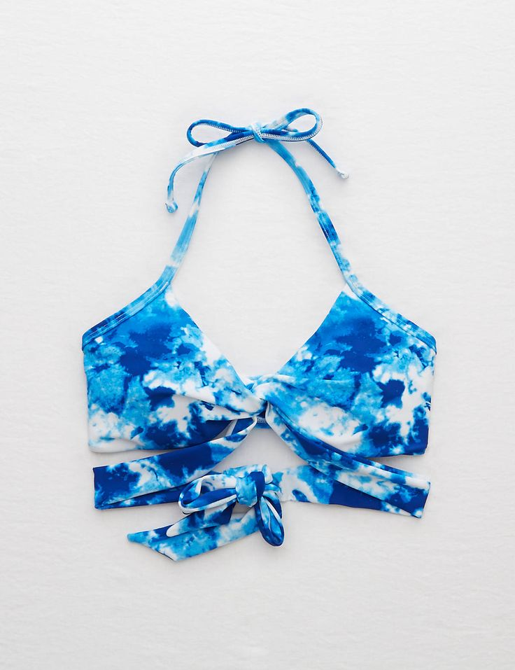 Aerie Wraparound Bikini Top , Blue | Aerie for American Eagle
