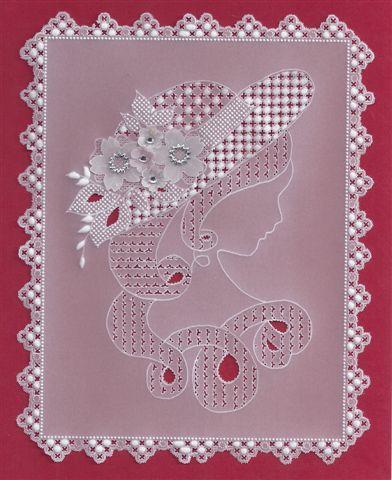 Bobbin lace converted to parchment