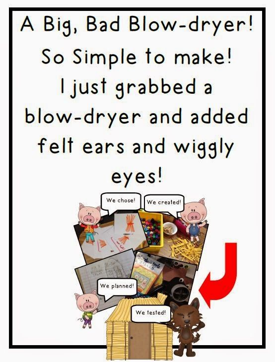 Classroom Freebies: The Big, Bad Blow-dryer Freebie! This is a must have activity if you are teaching with 3 Little Pig books!