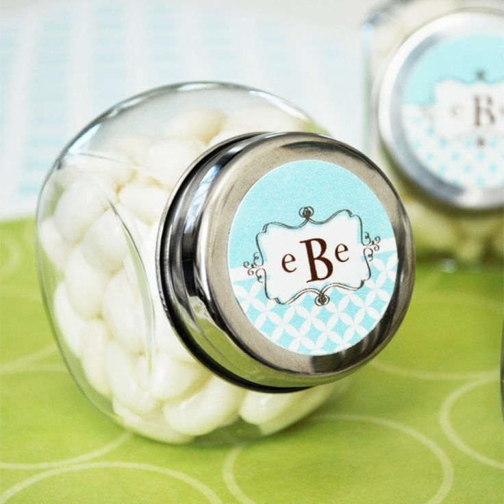 Mod Monogram Personalized Candy Jars Wholesale Wedding Supplies Discount Favors Party And Bulk Event