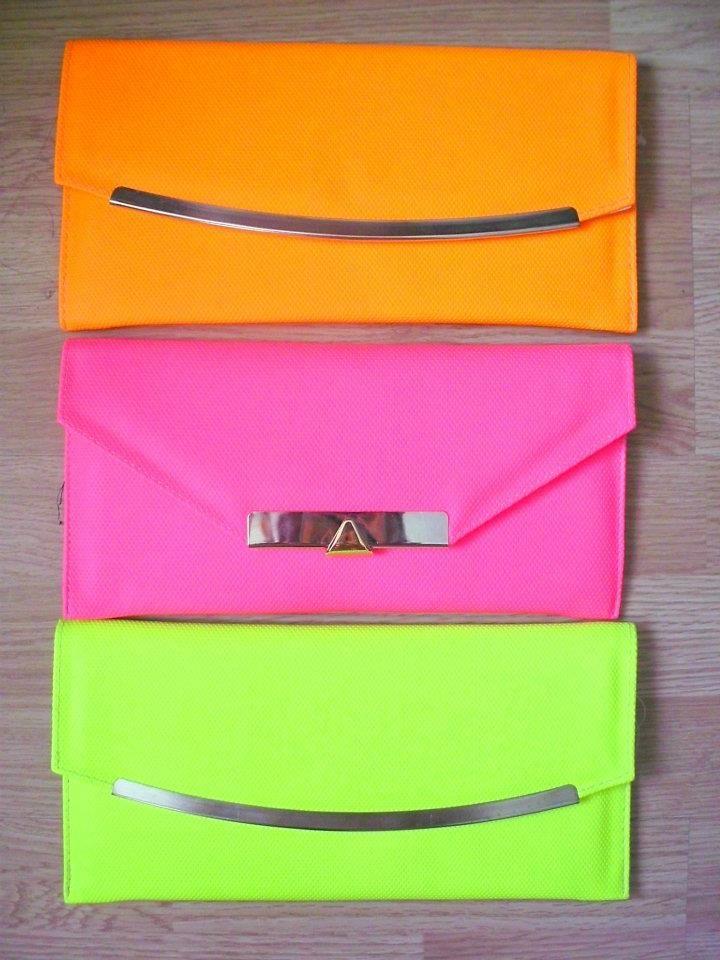 bright #neon clutches
