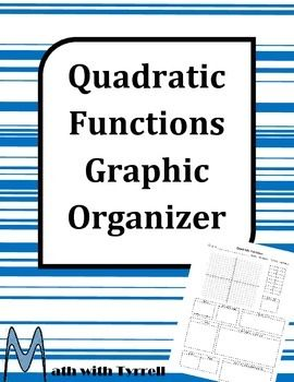 Are you teaching quadratic functions?  Save yourself some time with these quadratic function graphic organizer.  Algebra 1 ~ Algebra 2