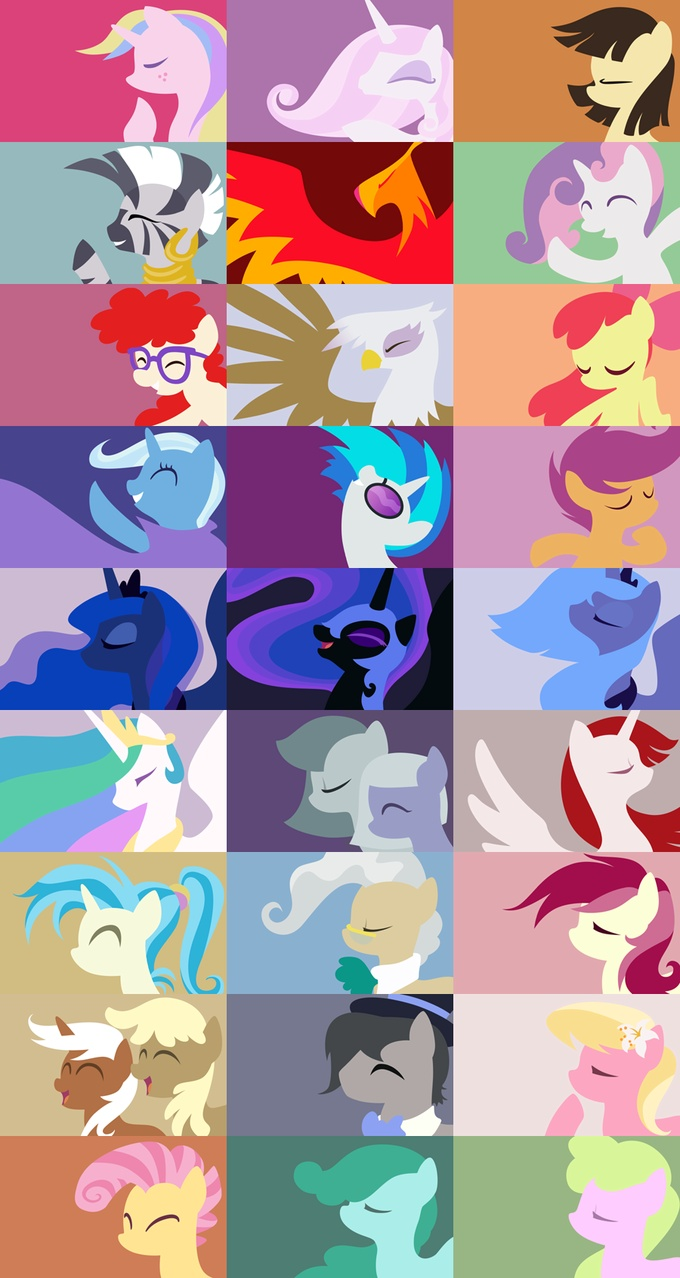 The ponies only Bronies get excited about. Which means I of course effing love them. (Except for Celestia, because she sucks)