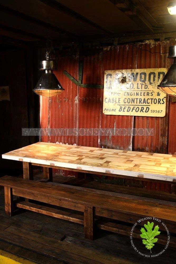 Large Urban Industrial Table | Wilsonsyard.com