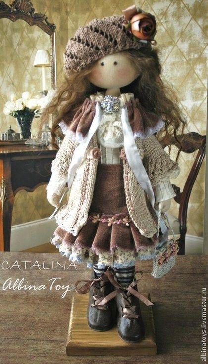 Коллекционные куклы ручной работы. Ярмарка Мастеров - ручная работа. Купить Каталина.Текстильная кукла в бохо стиле.. Handmade. Коричневый