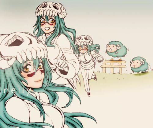 Nel #bleach. She is a small, good nature childlike Arrancar. She lives in the dessert of Hueco Mundo with her adoptive brothers. Her appearance is in stark contrast to her vocabulary, which contains a number of bizarre phases and words one wouldn't expect a little child to know, such as calling her a uvula and referring to herself as a masochist.