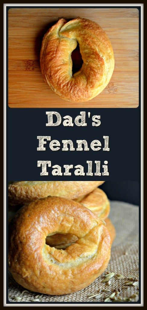 This recipe for Dad's Favorite Fennel Taralli are extremely addictive & provide a very particular texture... crunchy on the outside & chewy on the inside.