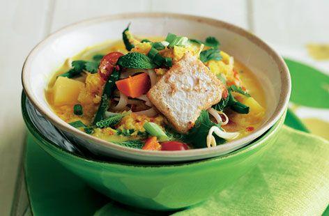 Winter Vegetable Laksa Recipe.