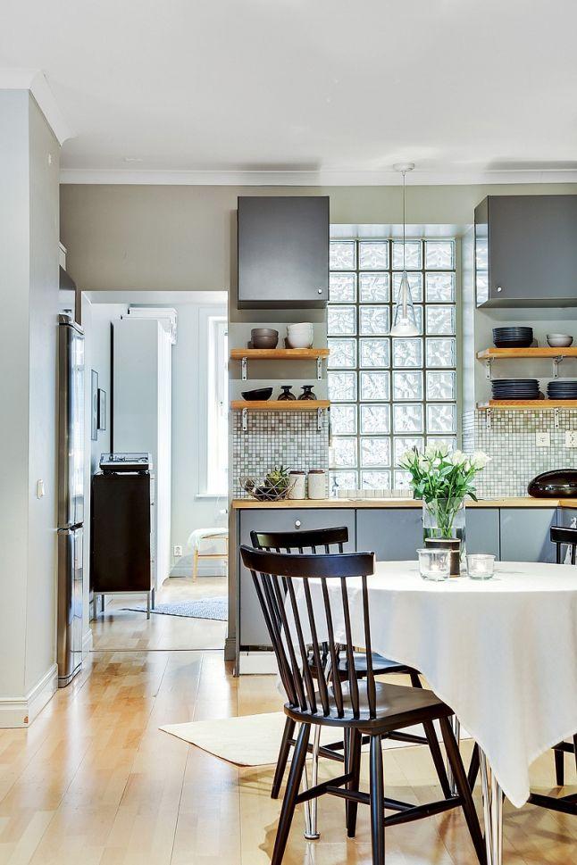 Pavés de verre en vedette #kitchen #diningroom