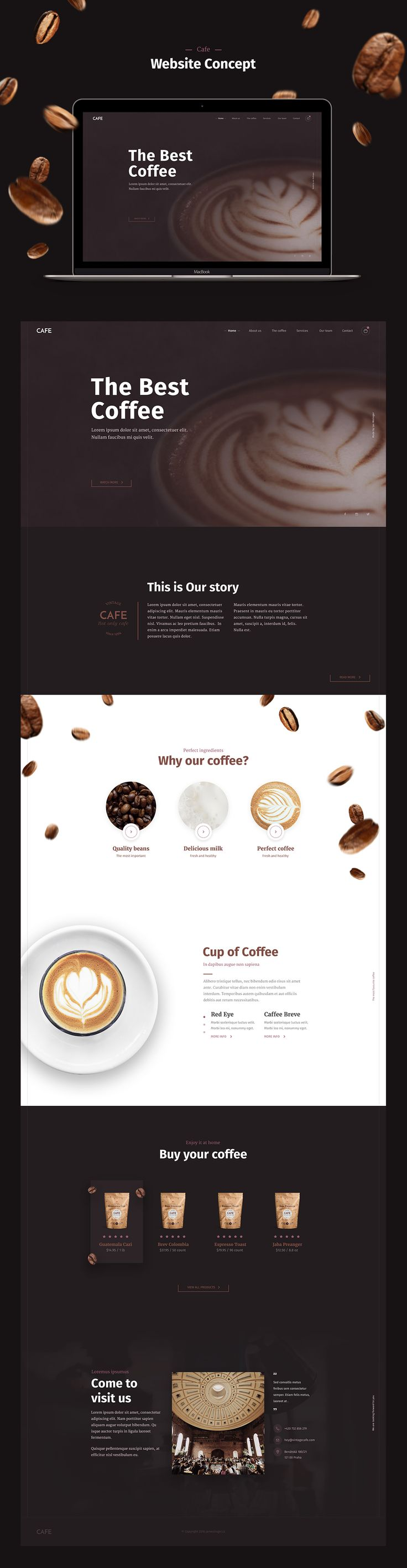 Cafe Website on Behance