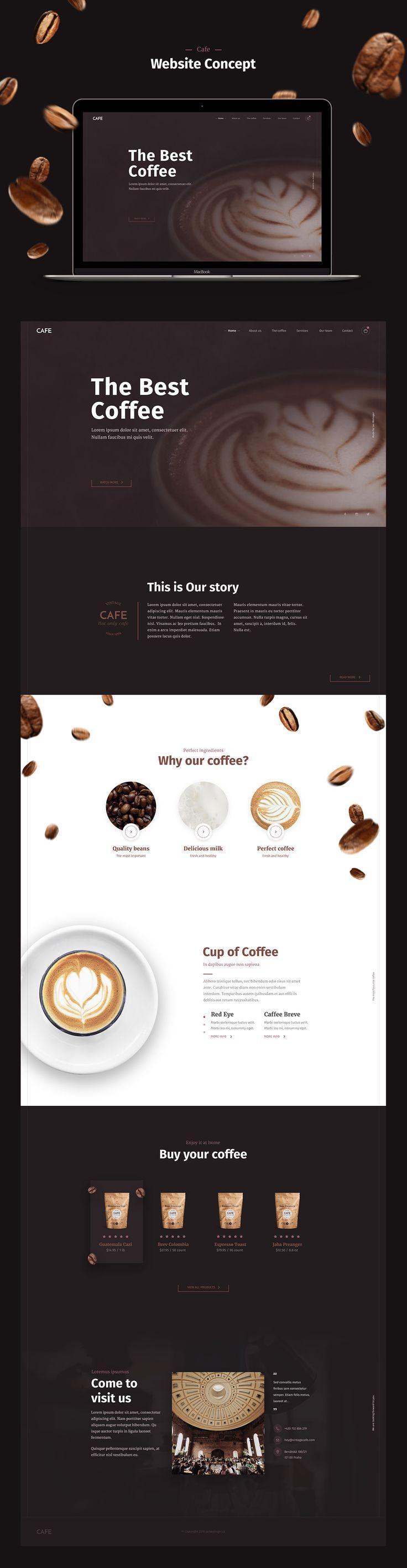 Cafe Website on Behance