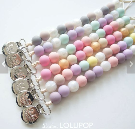 Lolli Silicone Bead Pacifier Clip from Ella Bella Maternity Boutique