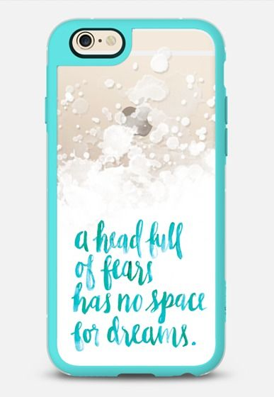 fears and dreams (turquoise) by Chelsea Peters iPhone 6 case by Chelsea Peters | Casetify
