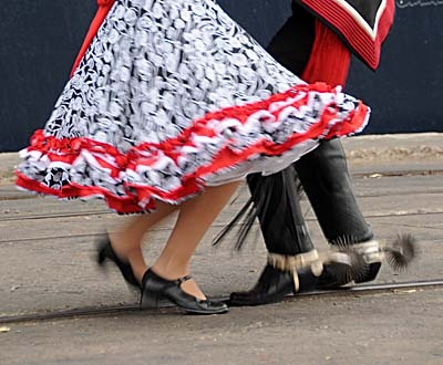 The spinning feet of dancers in Coquimbo, Chile. My home.