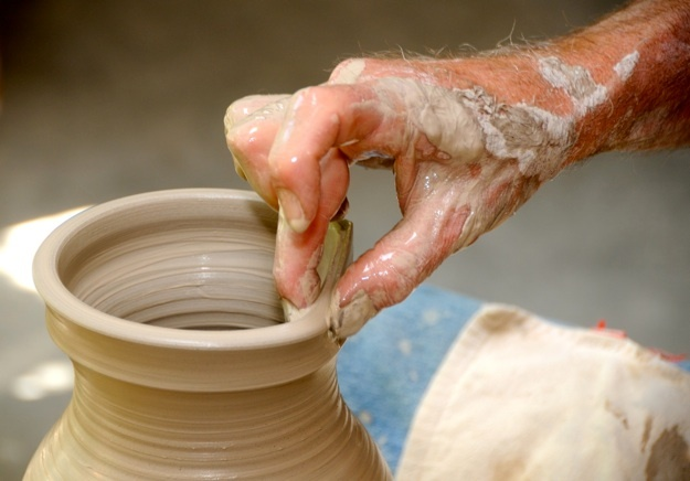 Michael Collins, professional potter and teacher based in Kitchener.