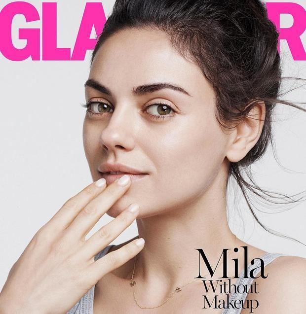 «Звезды без макияжа»: Мила Кунис без капли косметики снялась для обложки глянца…