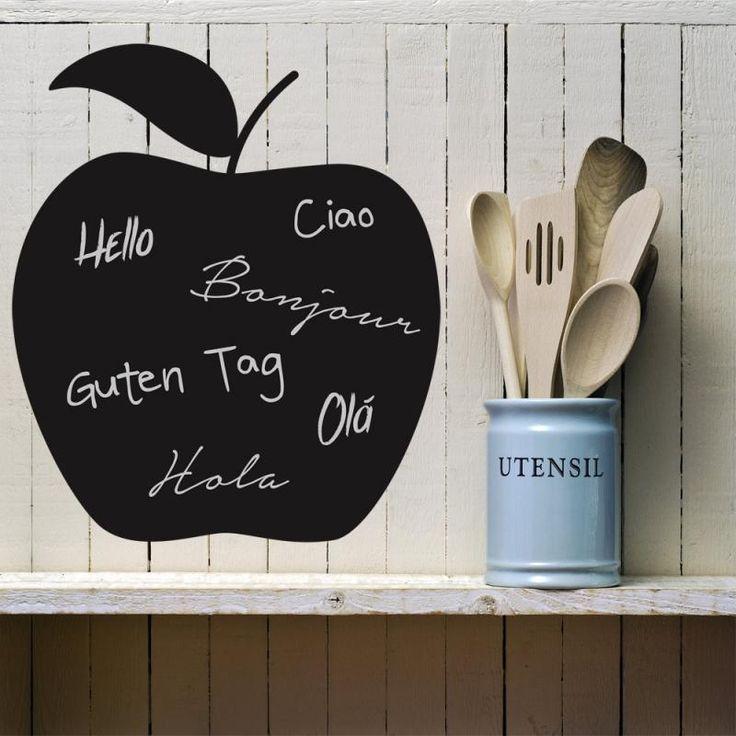 Stickers ardoise Gloden Blah Blah pour écrire ou dessiner à la craie toutes vos idées ! Vous aimez ?  #pomme #deco #idées #craie #dessin #imagination #cuisine #eclatdeverre #ardoise #enfance #listedecourses #design  #tendance #libérezvospensées  Retrouvez-le en ligne sur notre Shop en ligne => https://shop.eclatdeverre.com/fr/stickers-ardoises/954-stickers-ardoise.html