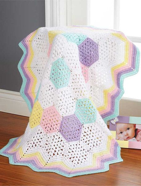 9 cuddly & colorful blankets! Crochet these sweet and adorable baby blankets for your little one or give as a special homemade gift!