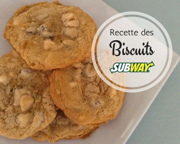 Je dois vous avouer que j'ai un énorme penchant pour les biscuits de chez Subway. Il m'arrive même de faire un détour à ce restaurant juste pour en acheter! Pas de sous-marin là, juste des biscuits! Hihi! Et quelle joie d'avoir fait la belle découverte d'une recette qui ressemble assez à ces fameux biscuits moelleux.