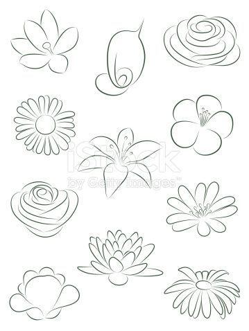 Satz von Blumen. Vektor-illustration.