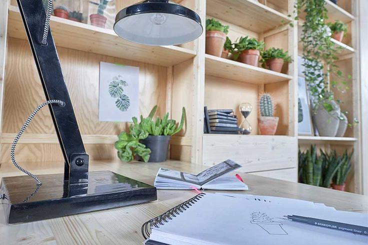 Styling voor Lundia Original werkplek | Op maat gemaakt | urban green
