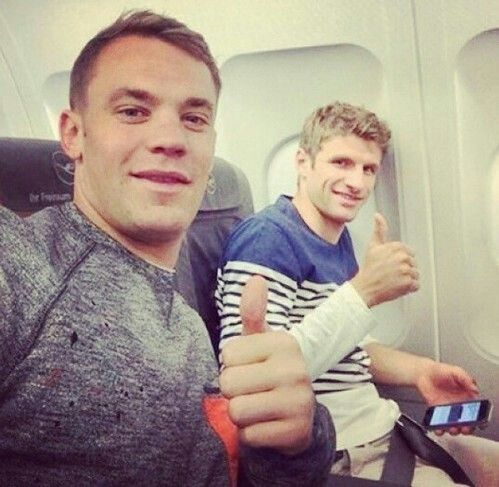 Manuel Neuer and Thomas Muller