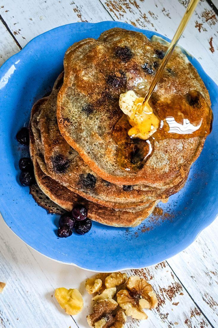 Healthy blueberry pancakes pancake mix recipe pancakes
